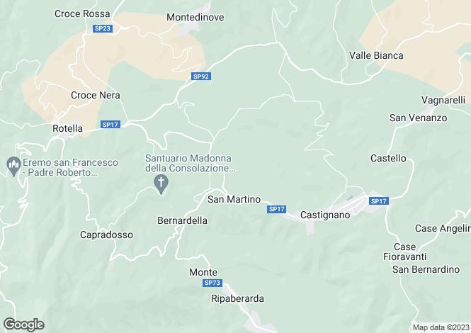Map for Castignano