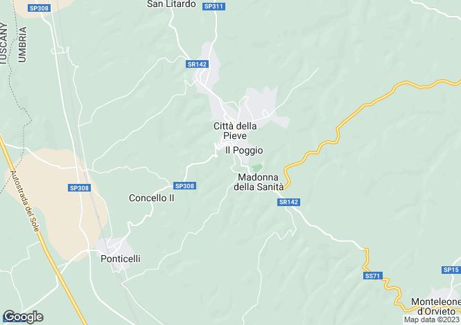 Map for Citta Della Pieve, Umbria, Italy