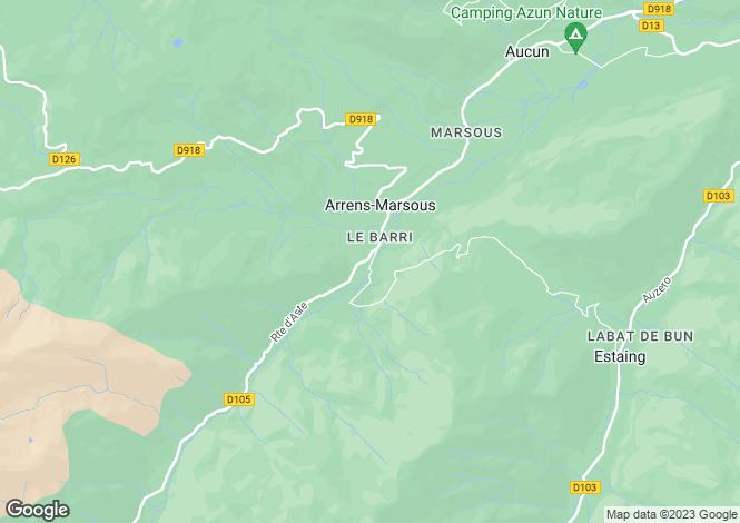 Map for arrens-marsous, Hautes-Pyrénées, France
