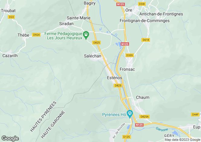 Map for estenos, Haute-Garonne, France