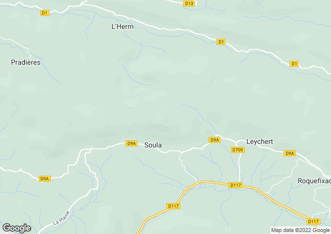 Map for Soula, Ariège, Midi-Pyrénées