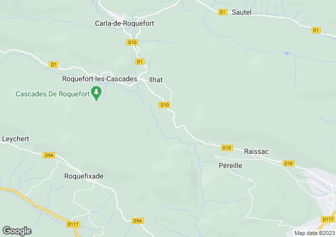 Map for ilhat, Ariège, France