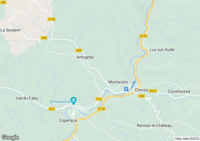 Map for antugnac, Aude, France