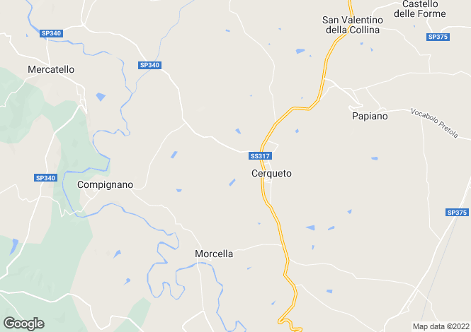 Map for Umbria, Perugia, Marsciano
