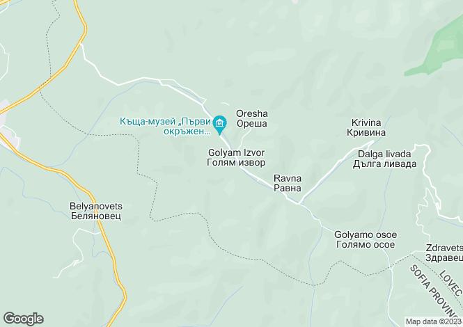 Map for Teteven, Lovech