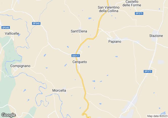 Map for Marsciano, Umbria, Italy