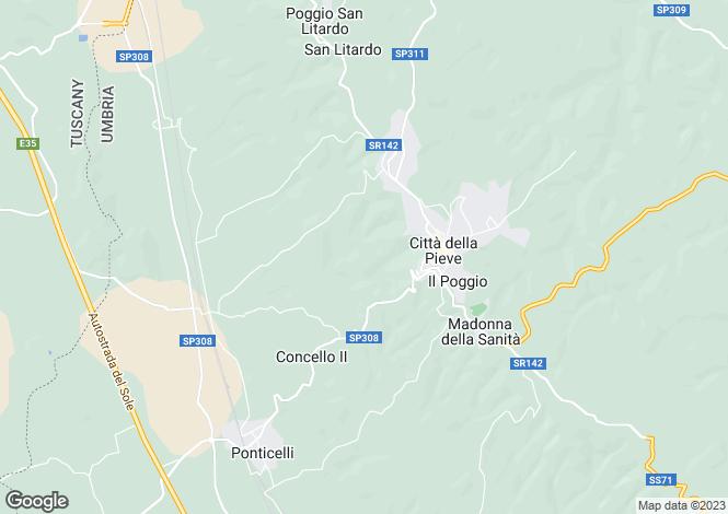 Map for Citta Della Pieve,, Umbria