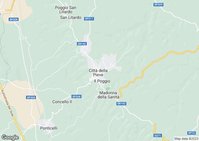 Map for s.r. 220, Città della Pieve, Umbria
