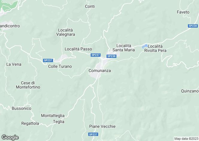 Map for Le Marche, Ascoli Piceno, Comunanza