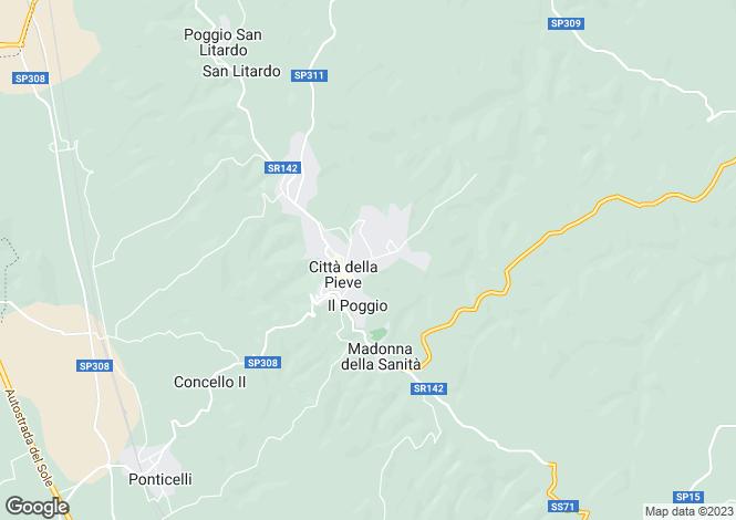 Map for Via Cappuccini, Città della Pieve, Umbria