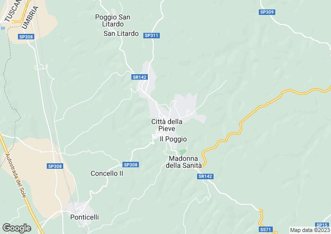 Map for Umbria, Perugia, Citta della Pieve