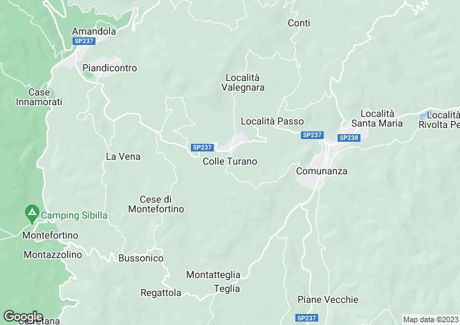 Map for Amandola, COLLE TURANO