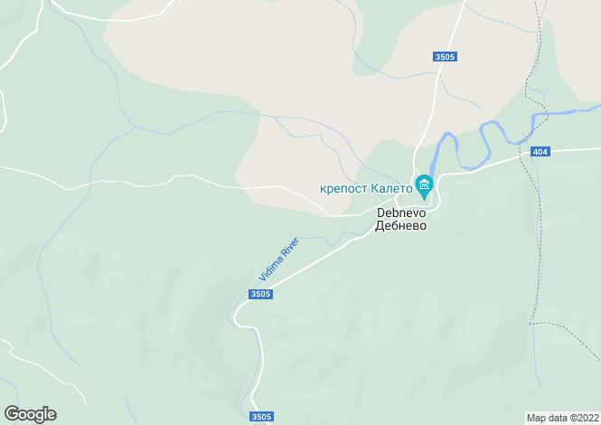 Map for Debnevo, Lovech