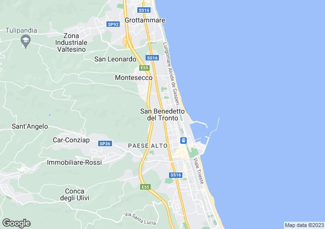 Map for San Benedetto Del Tronto, Ascoli Piceno, Marche