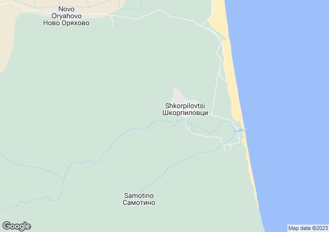 Map for Shkorpilovtsi, Varna