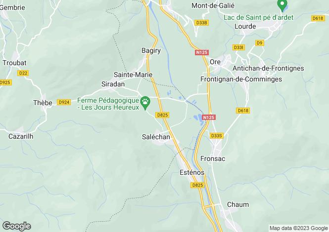 Map for salechan, Hautes-Pyrénées, France