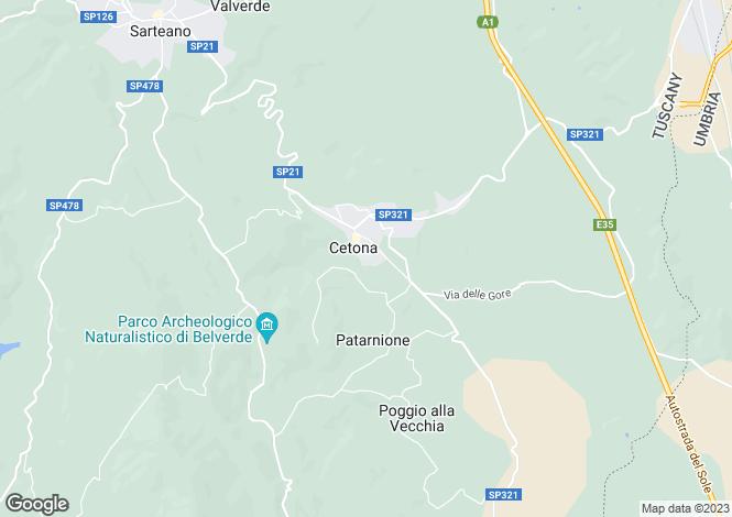 Map for Italy - Tuscany, Siena, Cetona