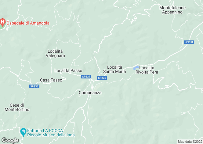 Map for Comunanza, PRACCHIA