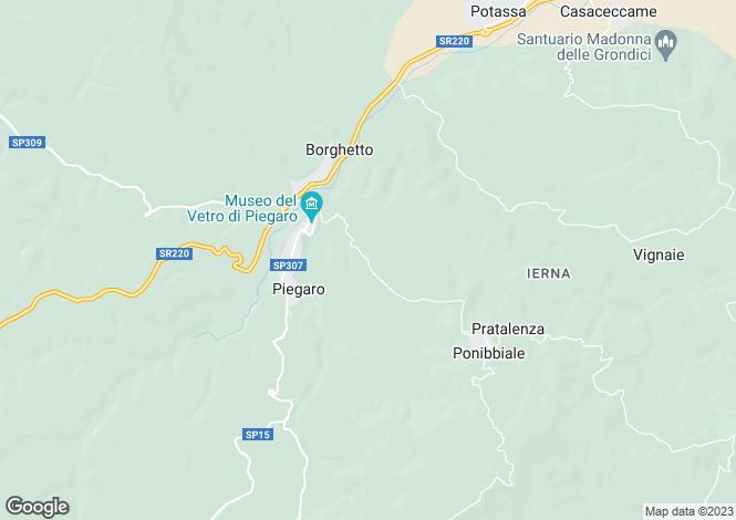 Map for Umbria, Perugia, Piegaro