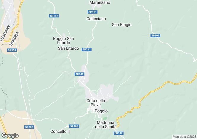 Map for Citta della Pieve, Perugia, Italy
