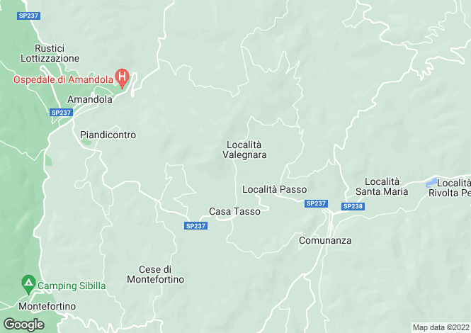 Map for Amandola, LOCALIT? CIVITELLA