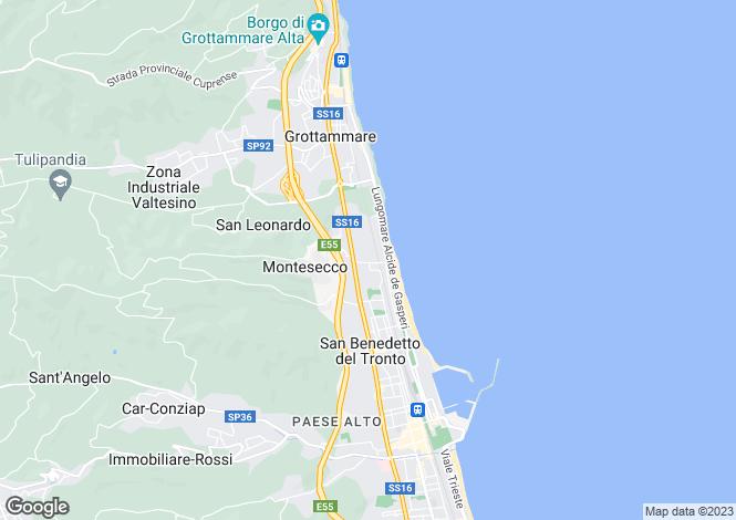 Map for Le Marche, Ascoli Piceno, Grottammare