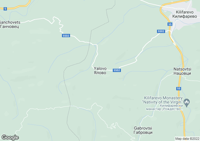 Map for Yalovo, Veliko Tarnovo