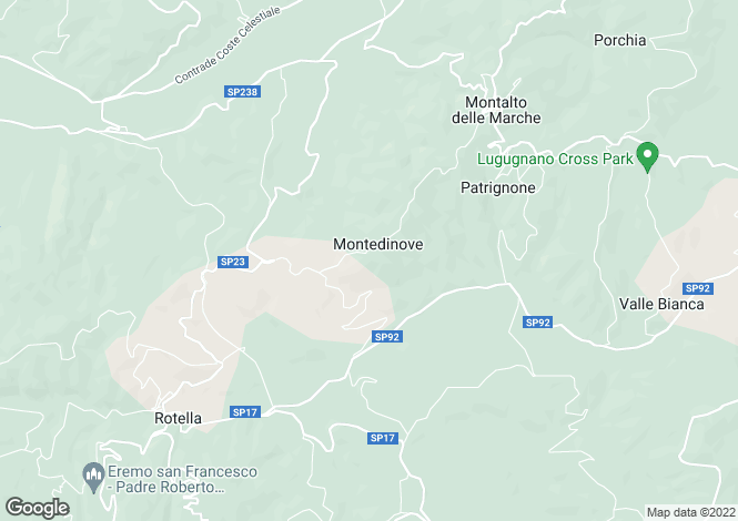 Map for Le Marche, Ascoli Piceno, Montedinove