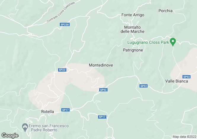 Map for Montedinove, Ascoli Piceno, Le Marche