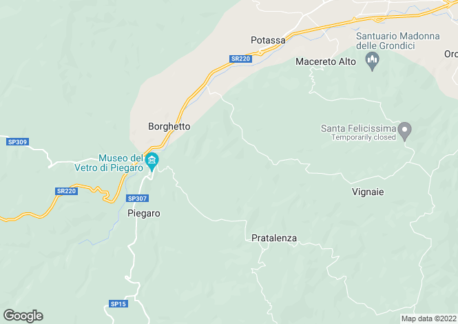 Map for Piegaro, Perugia, Umbria