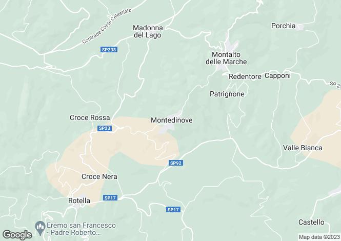 Map for Italy - Le Marche, Ascoli Piceno, Montedinove