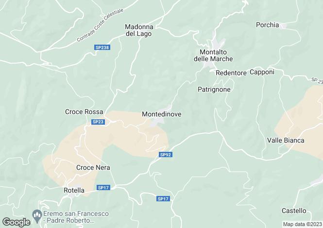 Map for Montedinove, Le Marche, Italy