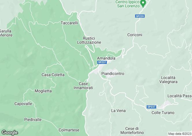 Map for Le Marche, Fermo, Amandola