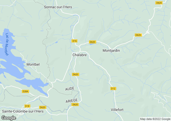 Map for Languedoc-Roussillon, AUDE, PROCHE  CHALABRE