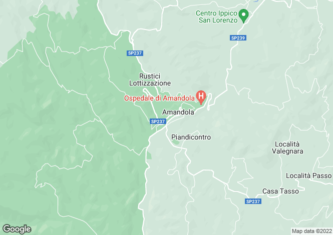 Map for Le Marche, Ascoli Piceno, Amandola