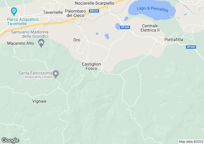 Map for Piegaro, Perugia, Umbria