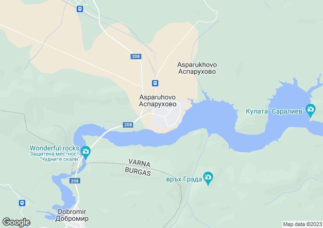 Map for Asparukhovo, Varna