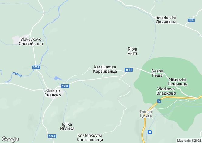 Map for Gesha, Gabrovo