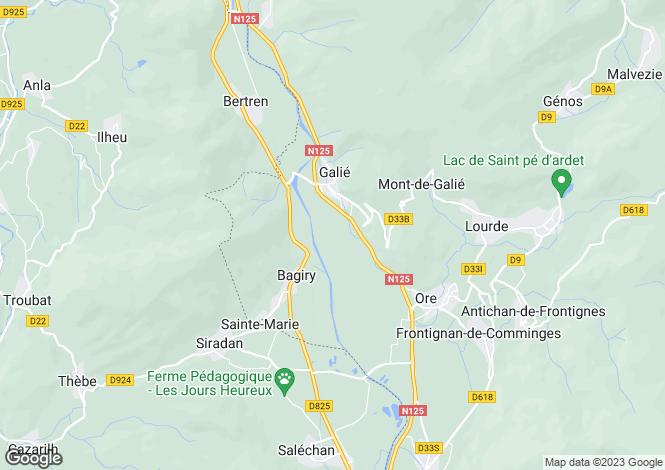 Map for bagiry, Haute-Garonne, France