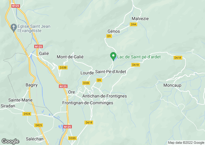 Map for saint-pe-d-ardet, Haute-Garonne, France