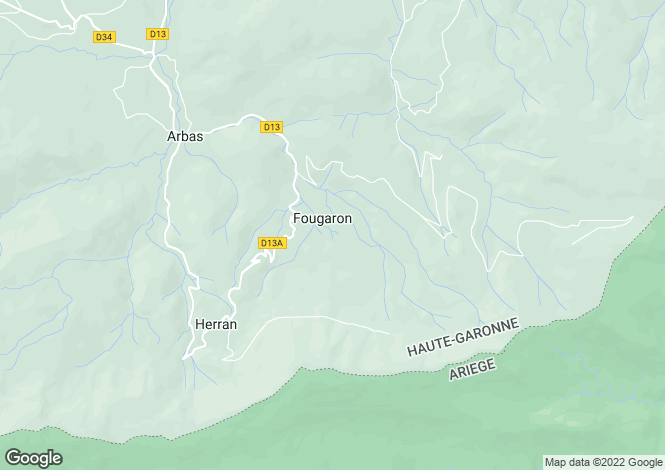 Map for fougaron, Ariège, France