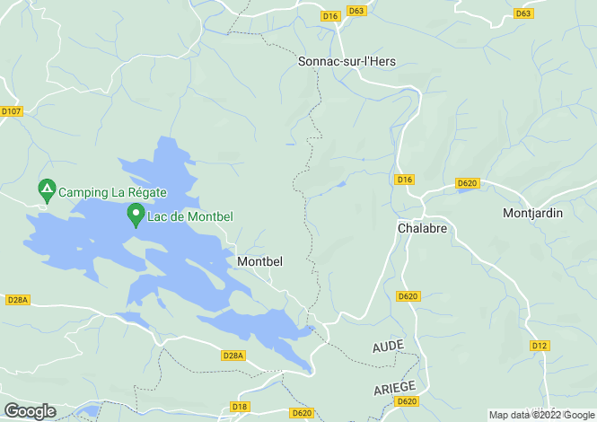 Map for montbel, Ariège, France