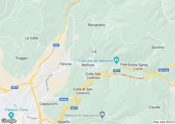 Map for Italy - Umbria, Perugia, Foligno