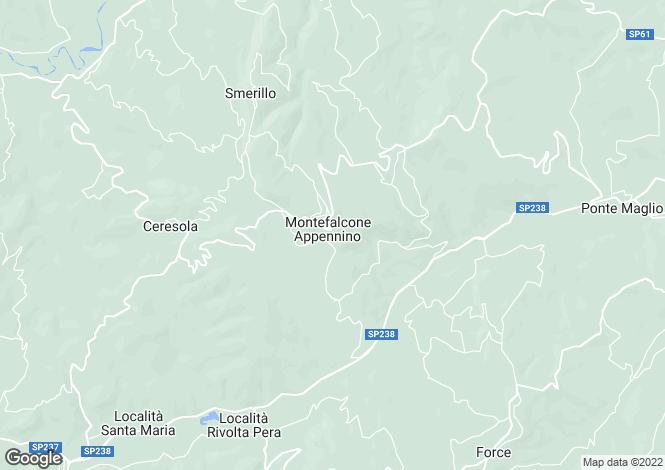 Map for Montefalcone Appennino, LOCALITA' VIGNOLA