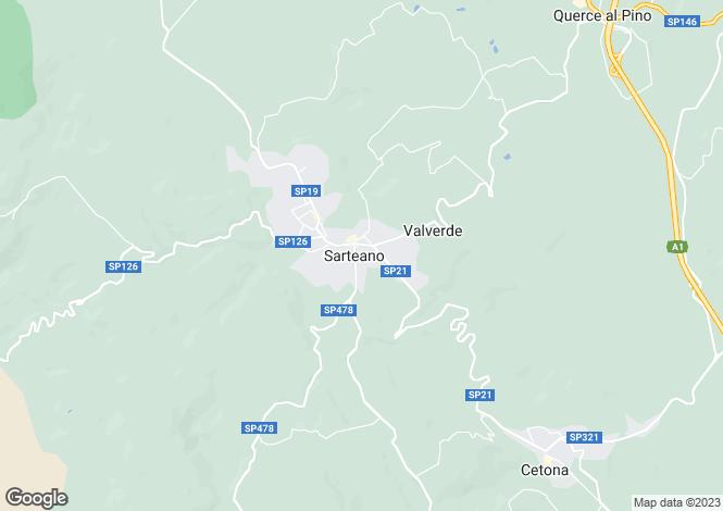 Map for Via Firenze, Sarteano, Tuscany