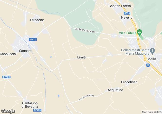 Map for Abruzzo, Chieti, Limiti