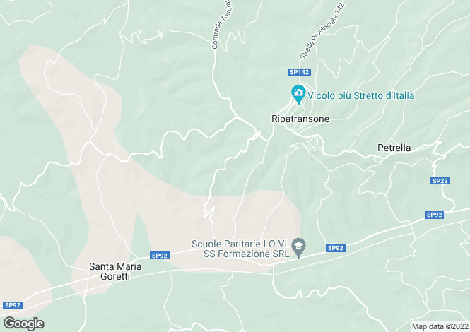 Map for Ripatransone, Ascoli Piceno, Le Marche
