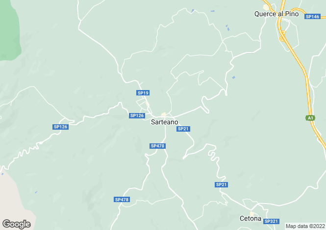 Map for Tuscany, Siena, Sarteano