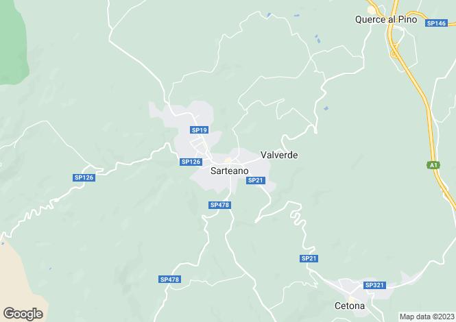 Map for Tuscany, Siena, Sarteano