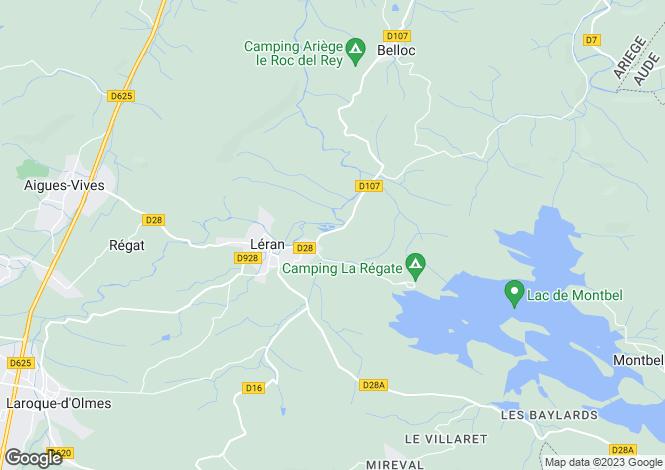 Map for 09600 LERAN, Ariege, France